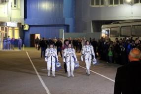 Космическая эстафета Олимпийского факела на Байконуре