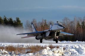 Зимние полеты на истребителях