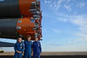 Космодром Байконур - запуск корабля «Союз ТМА-14М»